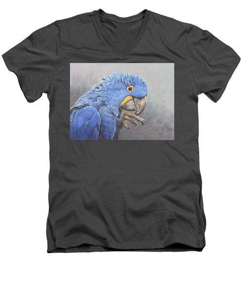 Hyacinth Macaw Men's V-Neck T-Shirt