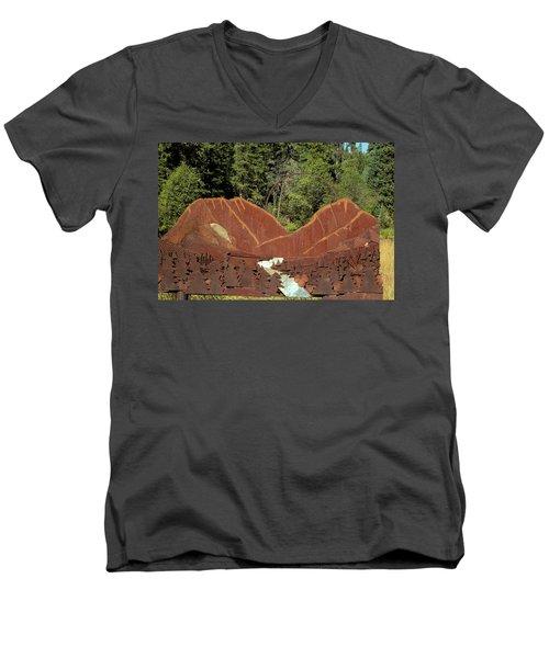 Hyalite Canyon Sculpture Men's V-Neck T-Shirt