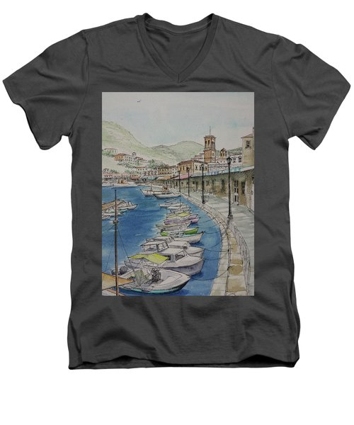 Hydra Clock Tower Men's V-Neck T-Shirt