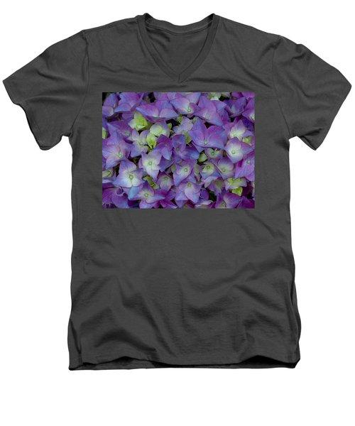 Hydrangia Blossom Men's V-Neck T-Shirt