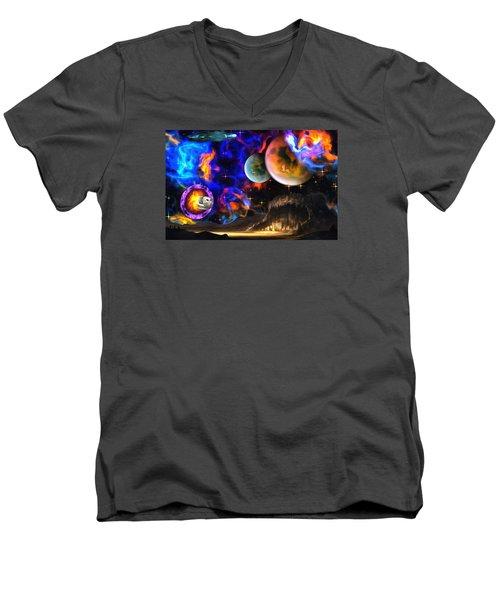 Hyperactivity Sector X66 In The Andromeda Gallaxy Men's V-Neck T-Shirt by Mario Carini
