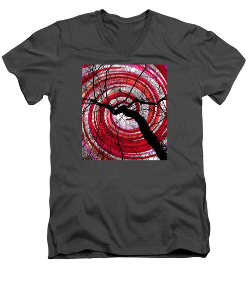 Men's V-Neck T-Shirt featuring the photograph Hypnotic Nature by Shawna Rowe