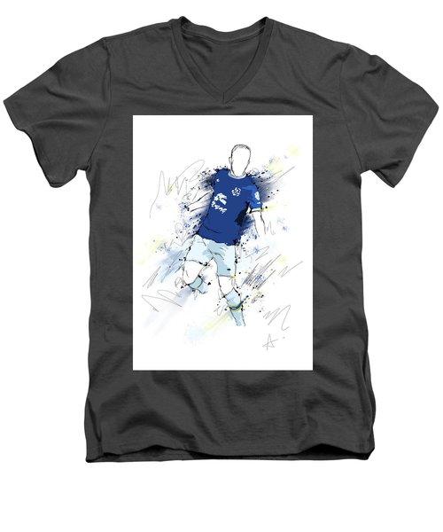 I Am Blue And White Men's V-Neck T-Shirt