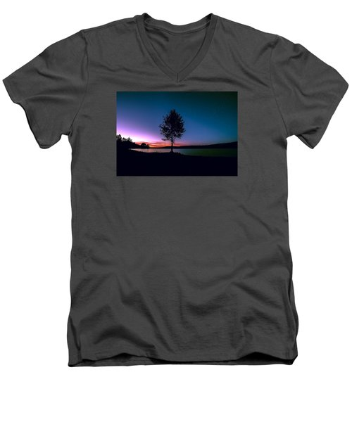 Men's V-Neck T-Shirt featuring the photograph I Am For You by Rose-Maries Pictures