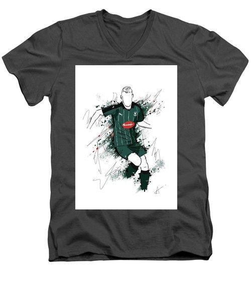 I Am Green And Black Men's V-Neck T-Shirt