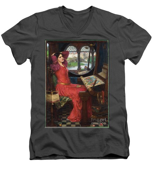 I Am Half-sick Of Shadows, Said The Lady Of Shalott Men's V-Neck T-Shirt