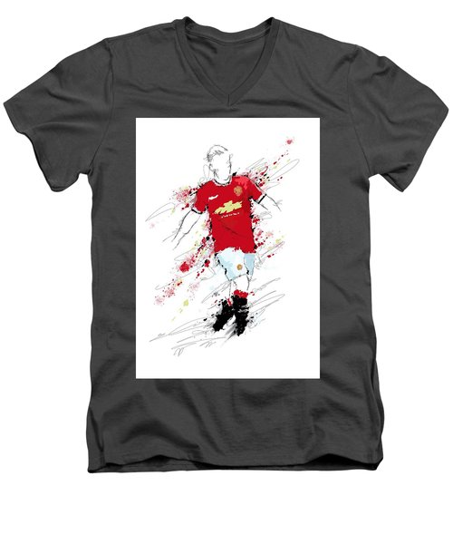 I Am Red, White And Black Men's V-Neck T-Shirt