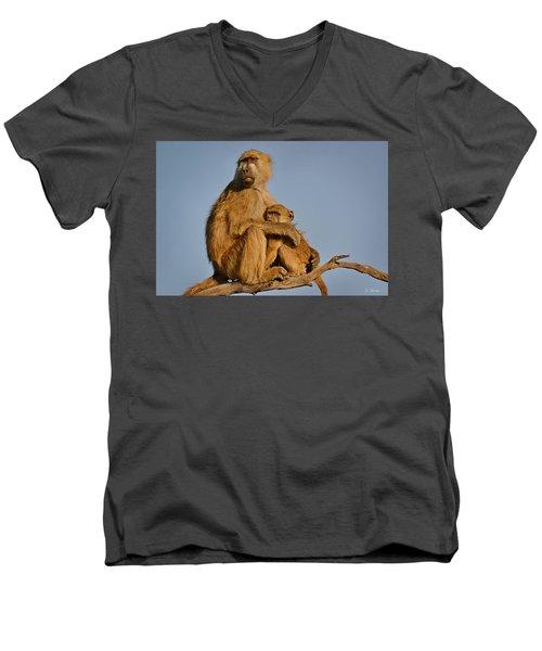 I Am So Scared Mama Men's V-Neck T-Shirt
