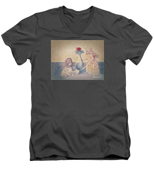 Men's V-Neck T-Shirt featuring the photograph I Am Sorry  ... by Chuck Caramella