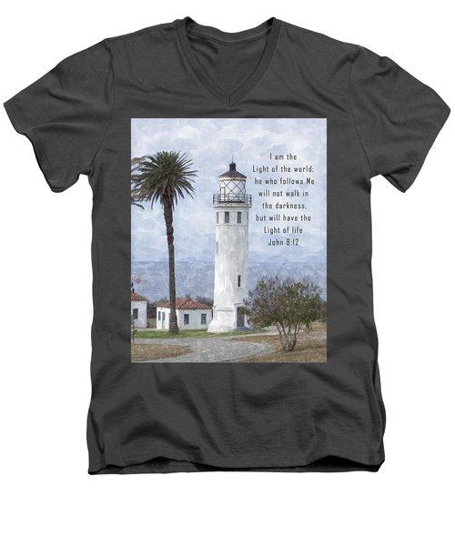 I Am The Light Of The World Men's V-Neck T-Shirt