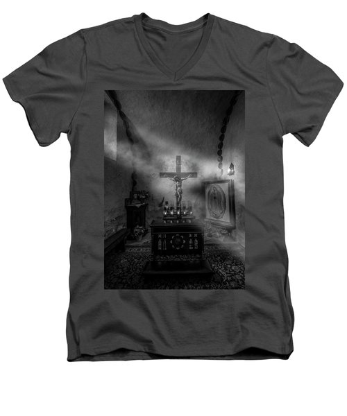 Men's V-Neck T-Shirt featuring the photograph I Am The Light Of The World by David Morefield