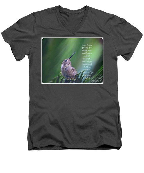Men's V-Neck T-Shirt featuring the photograph I Am The Light Of The World by Debby Pueschel