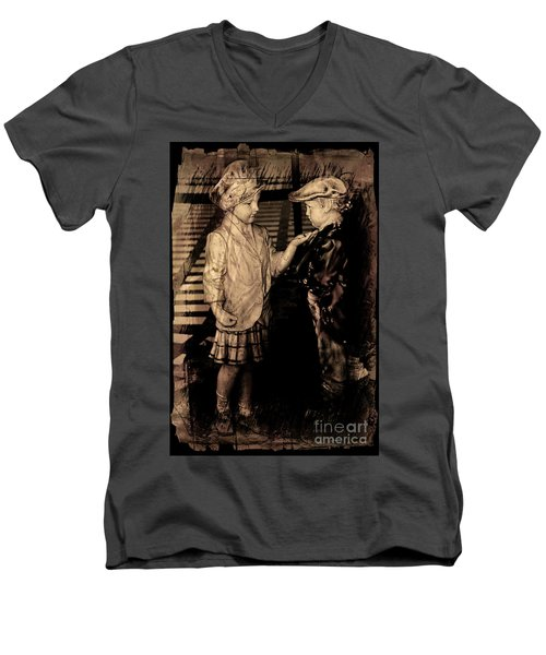 Men's V-Neck T-Shirt featuring the photograph I Approve by Al Bourassa