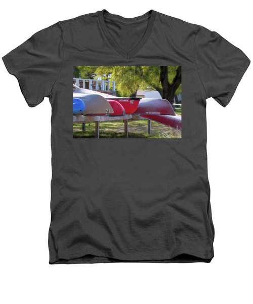 I Believe I'll Go Canoeing Men's V-Neck T-Shirt
