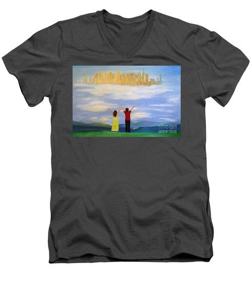 I Believe Men's V-Neck T-Shirt