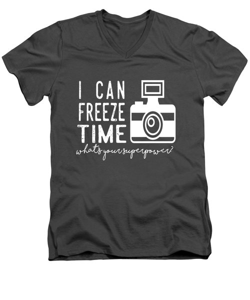 I Can Freeze Time Men's V-Neck T-Shirt by Heather Applegate