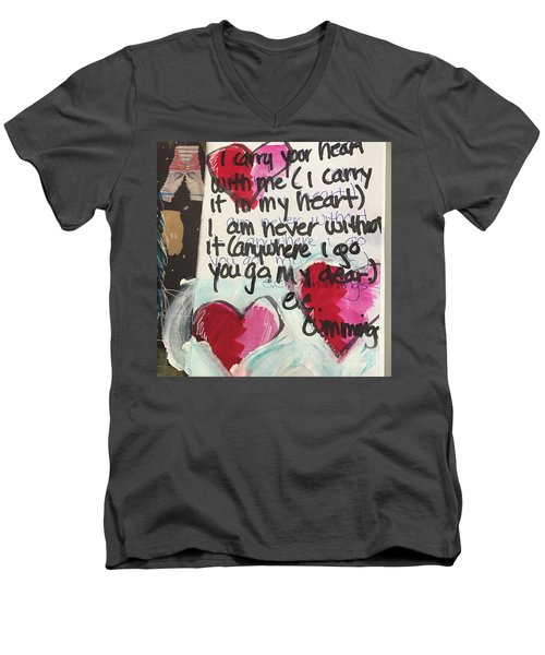 I Carry Your Heart In My Heart II Men's V-Neck T-Shirt