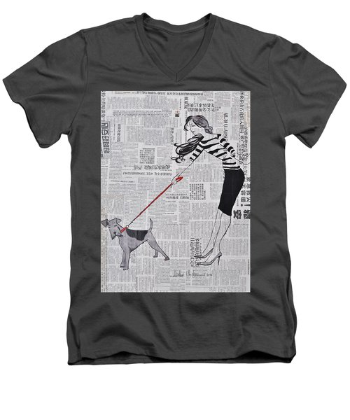 I Count You Twice Men's V-Neck T-Shirt