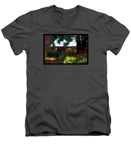 I Dreamt I Was A Cabin Men's V-Neck T-Shirt by Susanne Still
