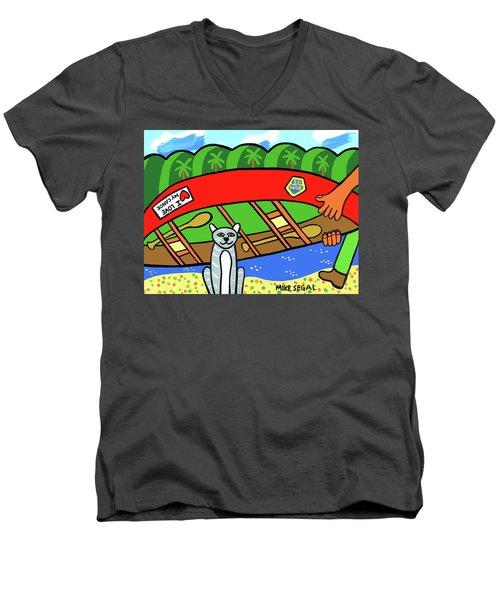 I Love My Canoe Men's V-Neck T-Shirt