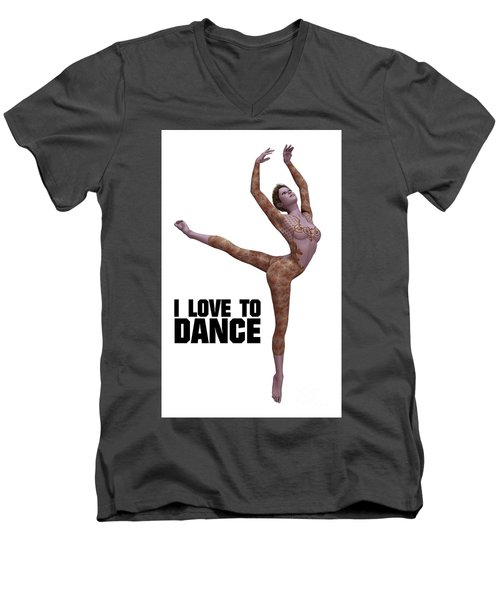 I Love To Dance Men's V-Neck T-Shirt by Esoterica Art Agency