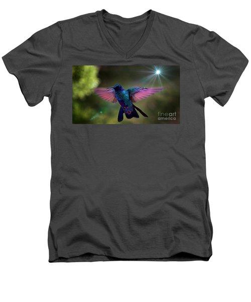 Men's V-Neck T-Shirt featuring the photograph I Love Tom Thumb by Al Bourassa