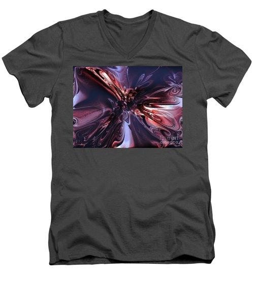 Tender Nature Of Fear Men's V-Neck T-Shirt by Yul Olaivar