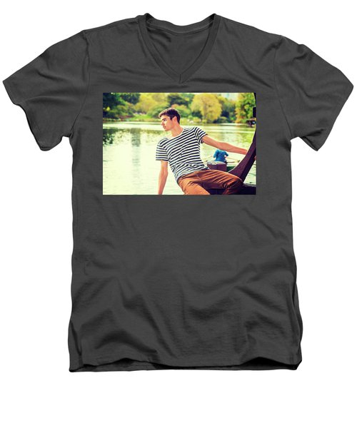 I Missing You And Waiting For You Men's V-Neck T-Shirt
