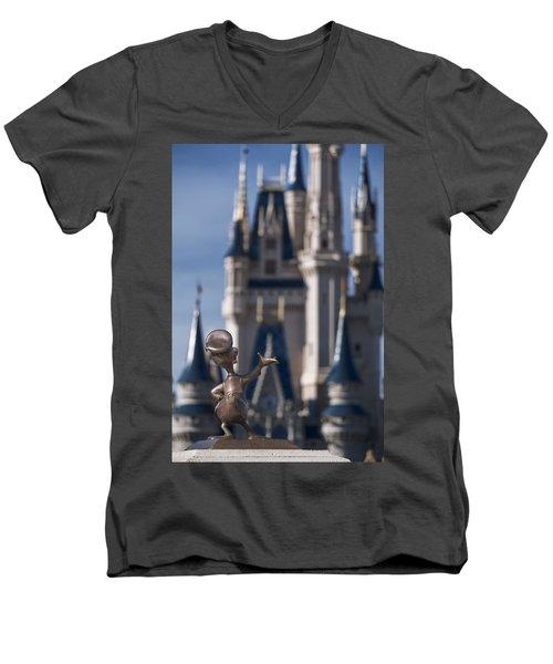 I Present You Cinderella's Castle Men's V-Neck T-Shirt by Eduard Moldoveanu