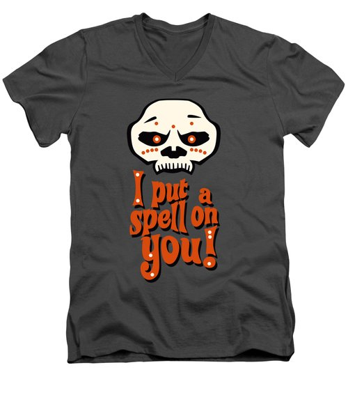 I Put A Spell On You Voodoo Retro Poster Men's V-Neck T-Shirt by Monkey Crisis On Mars