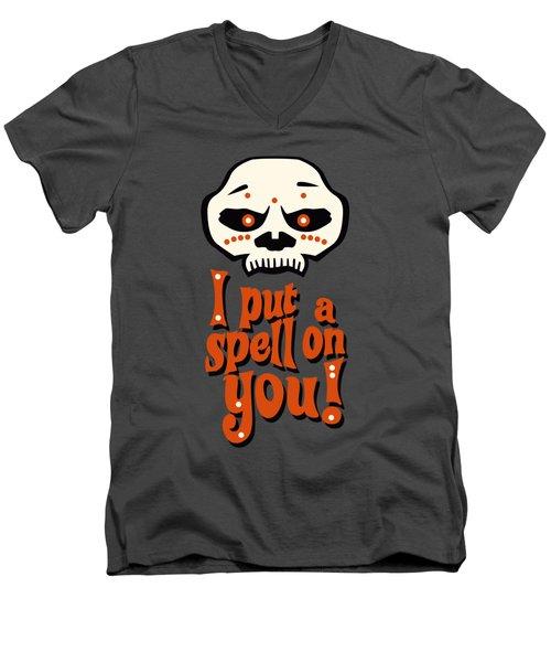 I Put A Spell On You Voodoo Retro Poster Men's V-Neck T-Shirt
