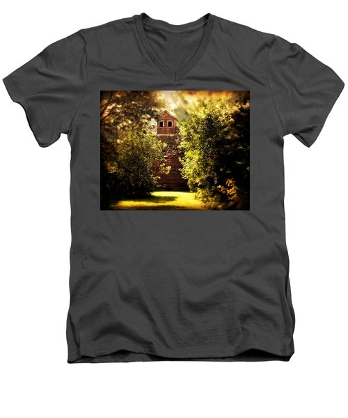 Men's V-Neck T-Shirt featuring the photograph I See You by Julie Hamilton