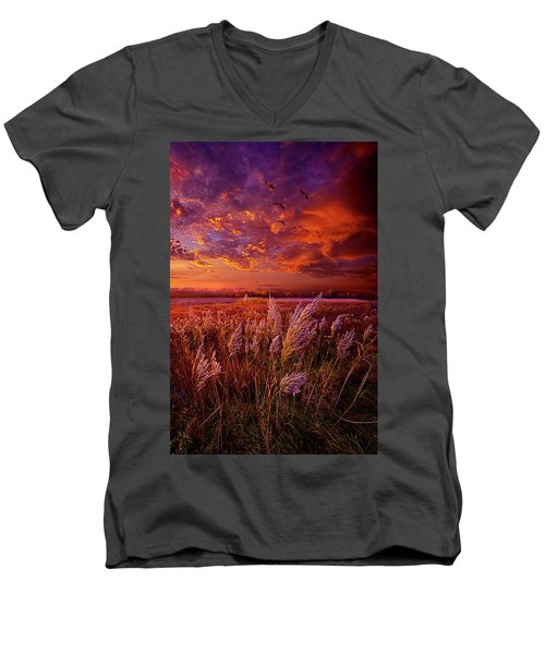Men's V-Neck T-Shirt featuring the photograph I Spoke To God Today by Phil Koch