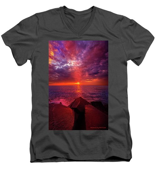 Men's V-Neck T-Shirt featuring the photograph I Still Believe In What Could Be by Phil Koch