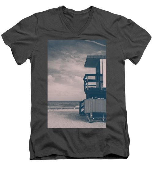 Men's V-Neck T-Shirt featuring the photograph I Was Checkin' On The Surfin' Scene by Yvette Van Teeffelen