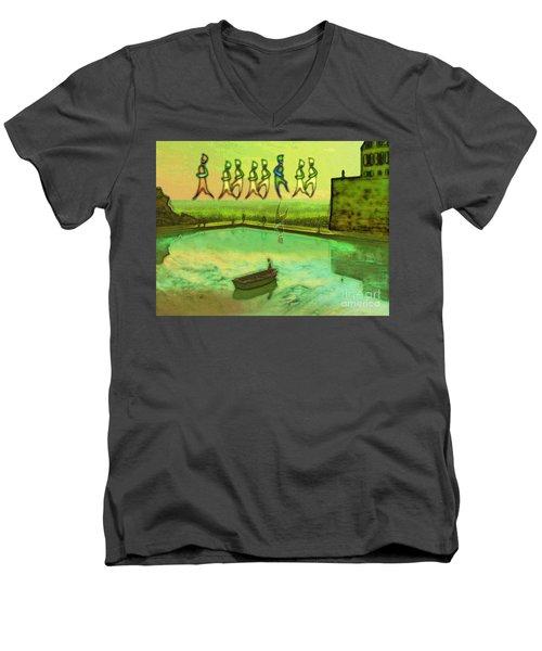 I Wasn't Born To Follow Men's V-Neck T-Shirt by Mojo Mendiola