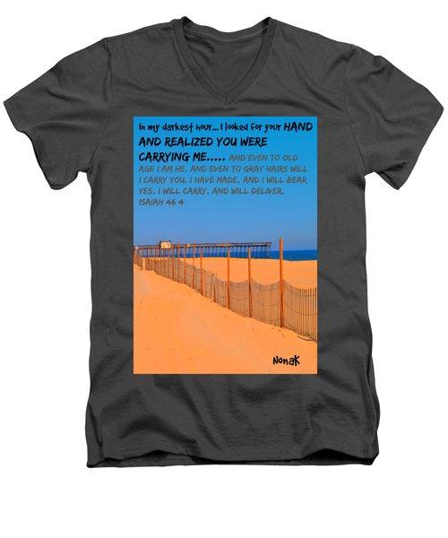 I Will Carry You Men's V-Neck T-Shirt