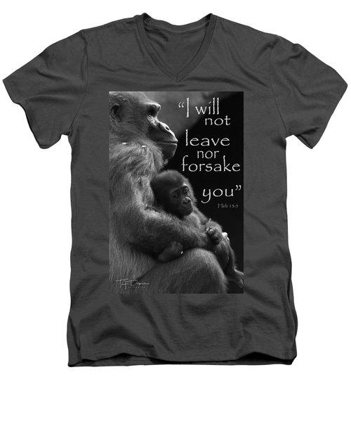 I Will Not Leave Nor Forsake You Men's V-Neck T-Shirt