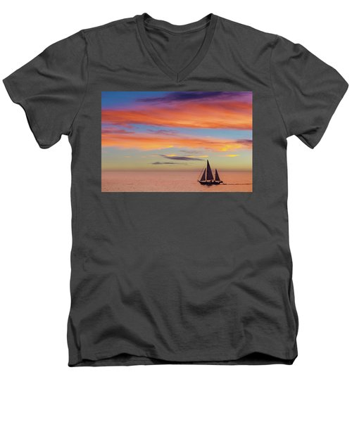 I Will Sail Away, And Take Your Heart With Me Men's V-Neck T-Shirt