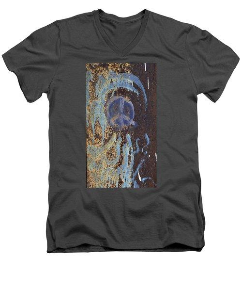 I Wish You Peace - Graffiti Men's V-Neck T-Shirt