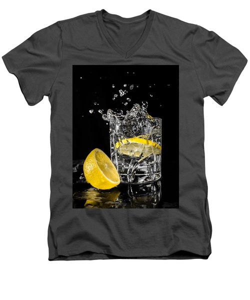 Men's V-Neck T-Shirt featuring the photograph Ice And A Slice by Nick Bywater