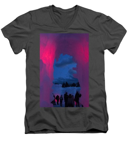 Ice And Colors  Men's V-Neck T-Shirt