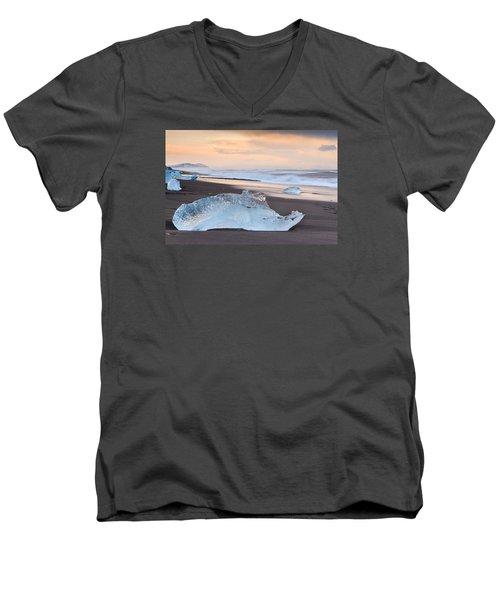 Ice Beach Men's V-Neck T-Shirt
