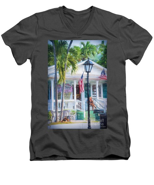 Ice Cream In Key West Men's V-Neck T-Shirt