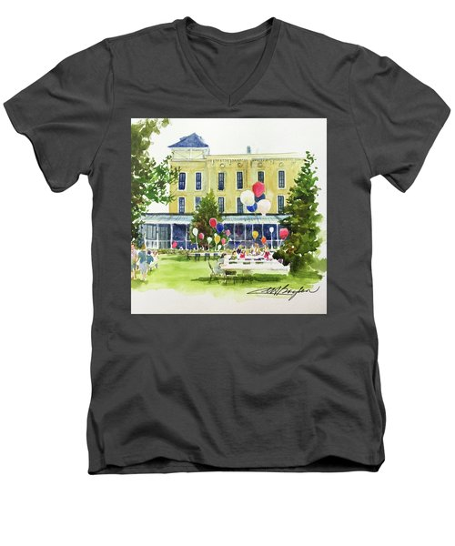 Ice Cream Social And Strawberry Festival, Lakeside, Oh Men's V-Neck T-Shirt