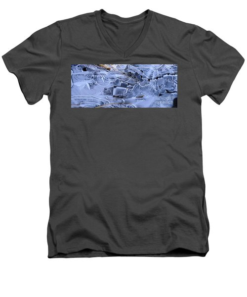 Ice Crystal Art Men's V-Neck T-Shirt