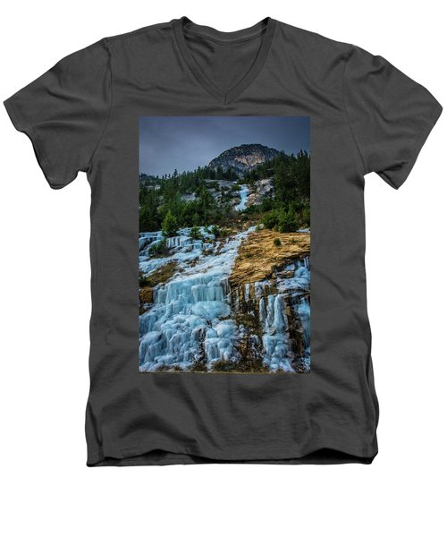Ice Fall Men's V-Neck T-Shirt