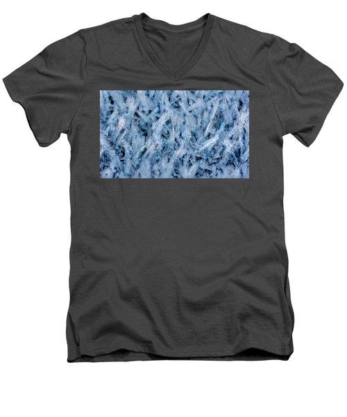 Ice Grass Growing Men's V-Neck T-Shirt by Rainer Kersten