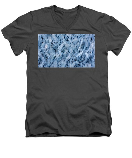 Ice Grass Growing Men's V-Neck T-Shirt