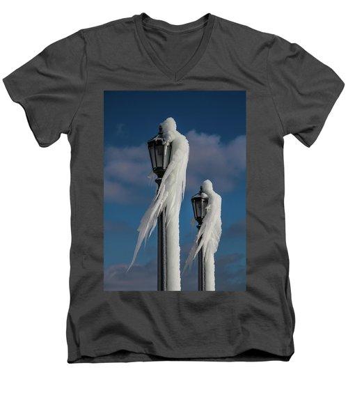 Ice Lamp Ladies Men's V-Neck T-Shirt